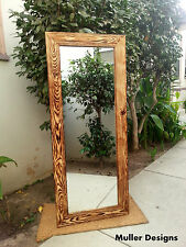 large wood mirror /full length mirror/floor mirror/reclaimed wood/ rustic vanity