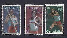 Canada 1975 Montreal Olympics Issue 7 MNH SG809-811 Pole Vault Marathon Hurdling