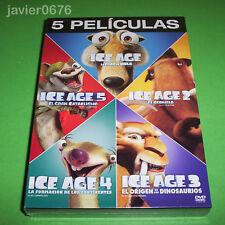 ICE AGE COLECCION 5 PELICULAS EN DVD PACK NUEVO Y PRECINTADO