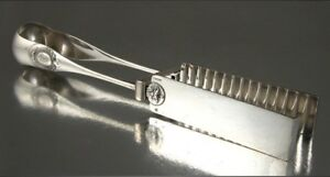 Antique French Christofle Silver Plate Asparagus Tongs, 19th Century