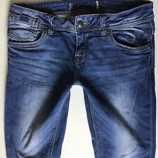 Ladies Superdry Cigarette Slim Faded Blue Jeans W28 L32 Size 8 (472)
