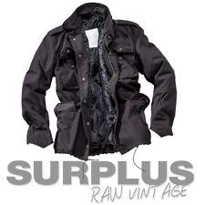 SURPLUS Raw Vintage M65 TROOPER Feldjacke Army Herren Winter Jacke schwarz XXL