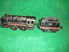 Prewar Karl Bub 0-Gauge Windup Clockwork Locomotive and Tender. Germany