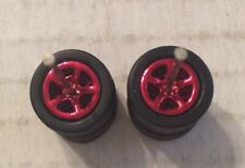 Hot Wheels MatchBox Black Red Real Riders Rubber Tires w/ Axles