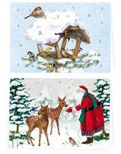 DANIELA DRESCHER*Adventskalender*Karten*Weihnachten* A6*Vogelhaus*Santa im Wald*