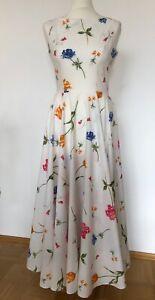 LAURA ASHLEY Vintage Kleid Sommerkleid Maxikleid geblümt Gr. UK 10 EUR 36