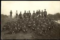 WW1 GERMAN PLATOONS MILITARY WAR COMPANY UNIFORMS RPPC PHOTO POSTCARD
