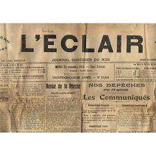 L'ÉCLAIR 23-11-1915 Émile VIDAL de St Félix de Palières FOOTBALL à QUISSAC Uzès