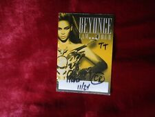 """Beyonce Back Stage """"I Am."""" World Concert Tour 2009-2010 All Access Badge"""