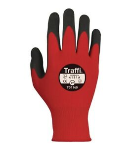 TraffiGlove TG1140 Morphic Cut A/1 Red Gloves Size 6,7,8,9,10,11 (Pack of 10)