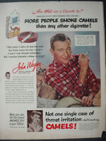 1951 John Wayne Camel Cigarettes Vintage Print Ad 12207