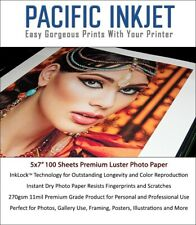 Pacific Inkjet 5x7 Luster Inkjet Photo Paper 100-sheets for Epson/HP/Canon 11mil