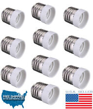 E27 To E14 Base Screw LED Light Lamp Bulb Holder Adapter Converter Pack OF 10 UL