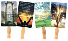 50 Church Fans, Assorted Church Hand Fans Paddle fans