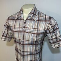 Vtg 60s 70s JOEL Stretch POLYESTER Disco SHIRT Groovy Boogie Nights MENS LARGE