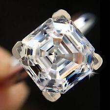 1.75 ct Brilliant Asscher Ring Top Russian Quality CZ Moissanite Simulant Sz 7