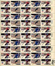 1980 - USA Winter Olympics - Mint Sheet - Scot t #1795 - 98  -  pane of 50 - 15c