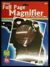 FULL PAGE MAGNIFIER MAGNIFYING GLASS 2 count SHATTERPROOF AND SCRATCH RESISTANT