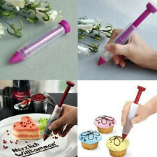 Silicone Make Cake Cookie Pastry Cream Chocolate Icing Decorate Syringe Pen DIY