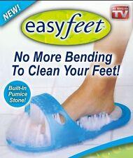 Hot Blue Easyfeet Easy Feet Foot Scrubber Brush Massager Clean Bathroom