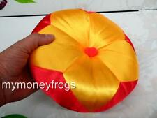 "5.5"" D Temple Instrument Cushion Pillow Singing Bowl Wood Drum Muyu Mokugyo NEW"