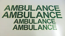 Ambulance vehicle Decal Set  - 4x Stickers - ( Medical / Healthcare / Emergency)
