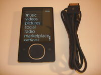 MICROSOFT  ZUNE  BLACK   80GB...NEW  BATTERY...