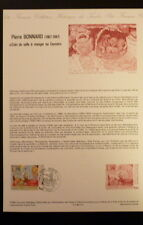FRANCE MUSEE POSTAL FDC 10-84    PIERRE BONNARD     4F   PARIS   1984