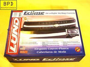 Ford 92-96 Pick Up 92-98 F250 F350 Acrylic Smoke Headlight Covers LUND 36201