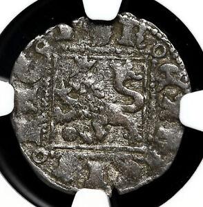 SPAIN. Alfonso XI, 1312-1350, Billon Noven, Burgos, NGC VF35
