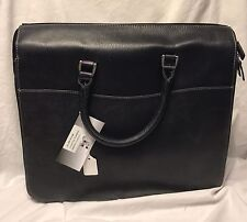 New Soft Lawyers BriefCase BriefBag Black Classico Leather  Retails @ $375