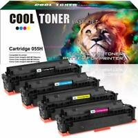 4 Pack No Chip for Canon 055H Toner imageClASS LBP660C MF740C MF741Cdw MF743Cdw