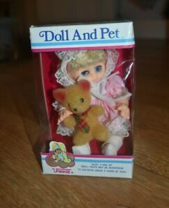 Vintage Uneeda doll and pet, boxed, new