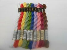 Pack of 10 Anchor Perle 5 Cotton 5g Skein Assorted