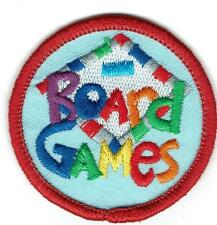 Girl Boy Cub BOARD GAMES Day FUN Patches Crest Badges SCOUT GUIDE round night