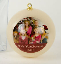 Custom Photo Holiday Ornament - Unbreakable with Free Gift Box and Free Shipping