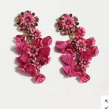 New$65 Soft Fuchsia With J.Crew Bag! J.Crew Bloom Statement Earrings! Sold Out!