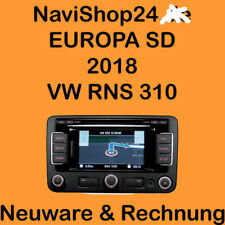 VW RNS 310 EUROPA SD KARTE 2018 NEUSTE VERSION  V 10 ! 32 GB ! MP3 ! DEUTSCHLAND