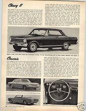 1964 PAPER AD 1965 Chevy Convertible Chevy II Chevelle Car Auto Automobile