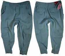 Replay Damen Hose W-28 Cropped Cargo capri pants New