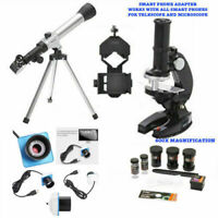 TELESCOPE FOR LUNAR AND FOR STAR OBSERVATION + MICROSCOPE +PHONE MOUNT+ PC CAM
