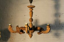 EUROPEAN ANTIQUE HAND CARVED  CHANDELIER vintage  6 arms L1