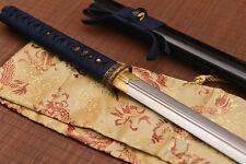 "Double Edged Straight Sword Full Tang spring steel japanese ken ""剑"""