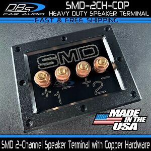 Steve Meade SMD Copper 2 Channel Heavy Duty Subwoofer Speaker Box Terminal Plate