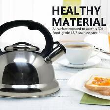2.95 Quart Stainless Steel Whistling Tea Kettle Tea Maker, Durable, Silver