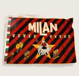 BANDIERA  MILAN ANNI 80 - cm.96x140 Diavolacci