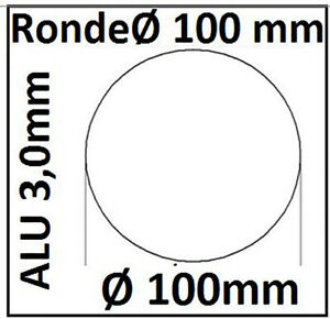 ALU Ronde Ø30-120x3mm 0Loch 1490 Alu Scheibe SR30-120/0/3,0 mm taurusShop24_de