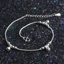 Jingle Bell Ankle Bracelet Women Anklet Foot Jewelry 925 STERLING SILVER plt