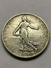 1909 France 2 Francs Silver F+ #4581