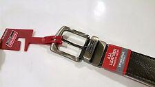 Heavy Duty Men Belt Reversible Dickies Buckle Logo Sz 38 Leather Black to Brown